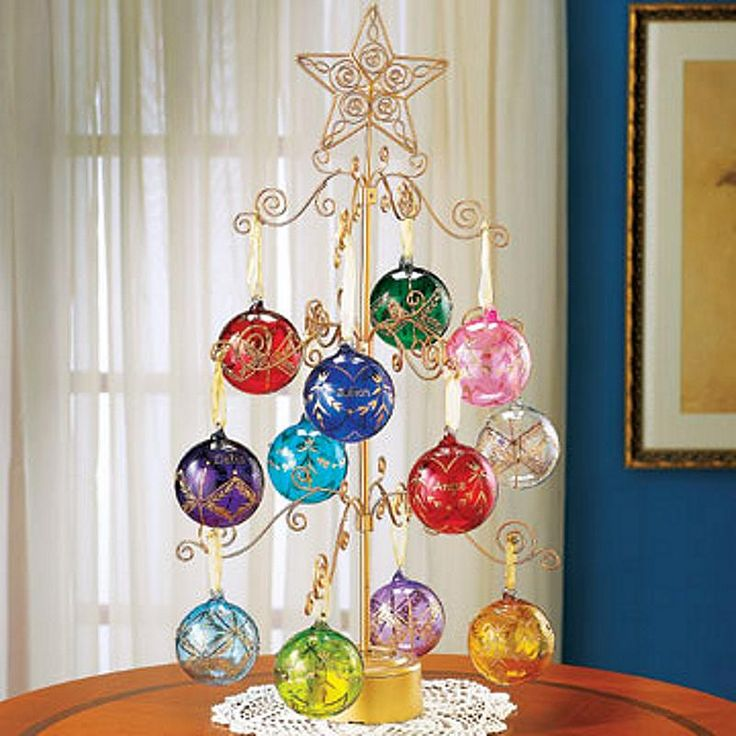 Metal Tabletop Christmas Tree: 61 Best Images About Yule Ornament Display Stands On