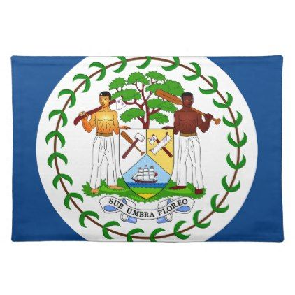 #Belize flag cloth placemat - #country gifts style diy gift ideas