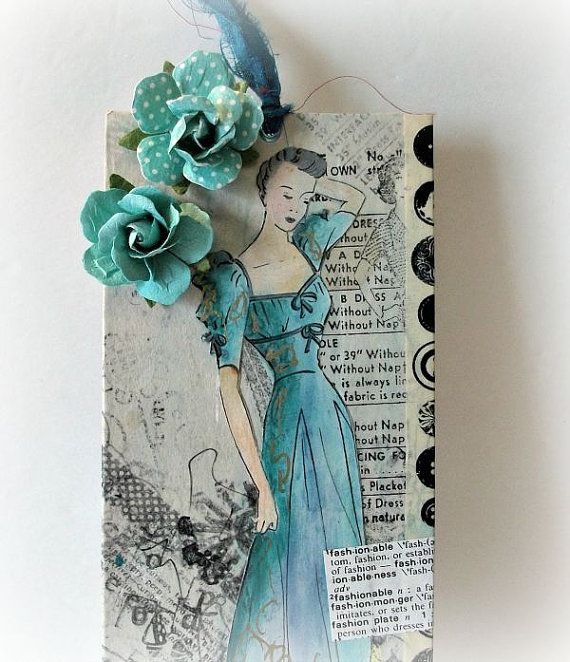 Mixed Media Art Tag Gift Tag Art Tag Original by LilyGraceInspired