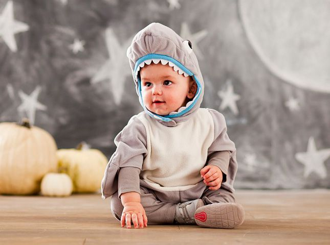 Cue up the Jaws theme music for this baby shark costume.