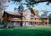 Badger Peak II Log Home Floor Plan by Wisconsin Log Homes