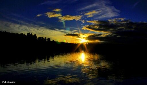 Sunset at Ojajärvi