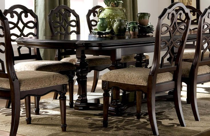 Sophisticated dining rooms with a spectacular finished we for Dining room table with 6 chairs