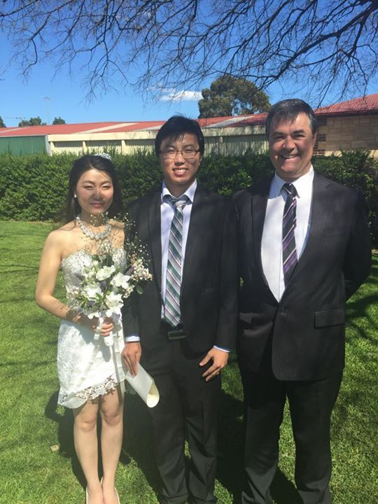 And not forgetting Tong and his lovely bride at their wedding at the small park across the road from our office on Friday!