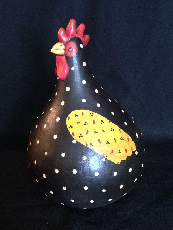 Gourd Hen  Denise by POPLARHOLLOWSTUDIO on Etsy