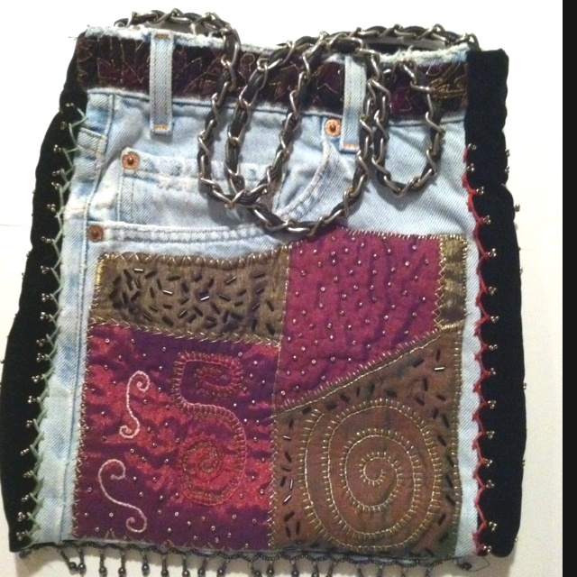 A fun way to repurpose jeans!