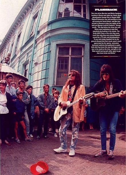 Jon Bon Jovi and Richie Sambora in Moscow 1989 @marceloalberian   Tumblr