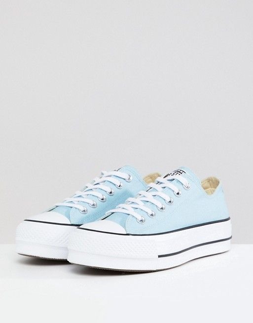 cc74b40ebed3f Converse Chuck Taylor All Star Platform Trainers In Blue in 2019 ...