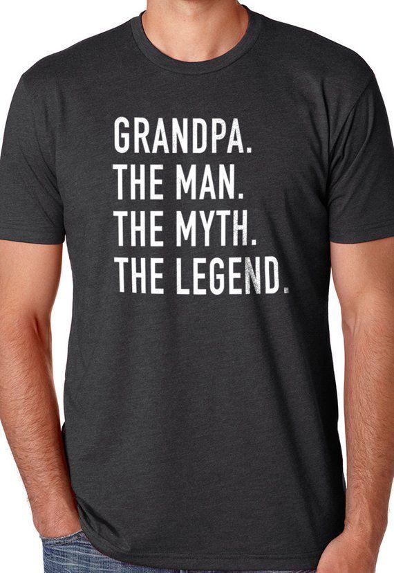 Grandad The Man The Myth The Legend T SHIRT Fathers day dad gift LEGEND,TSHIRT