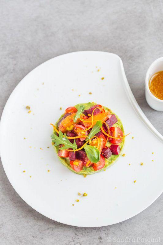 Salade de betterave et avocat à l'orange