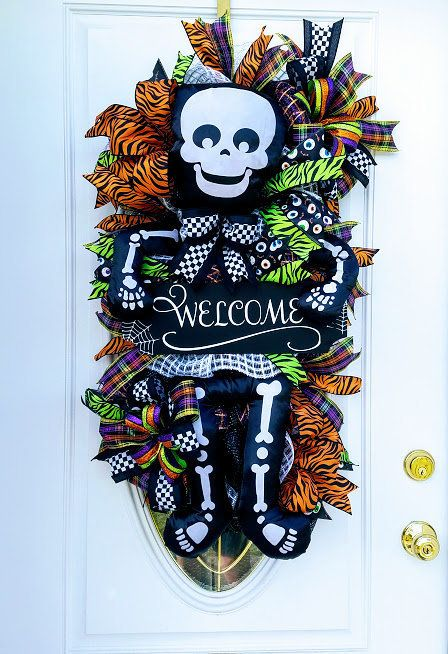 40 best Halloween Skeleton Wreaths images on Pinterest