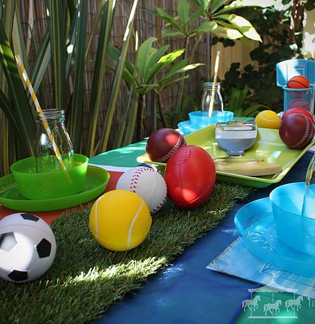 Sports theme party hire packages for kids boys and girls in Perth, WA
