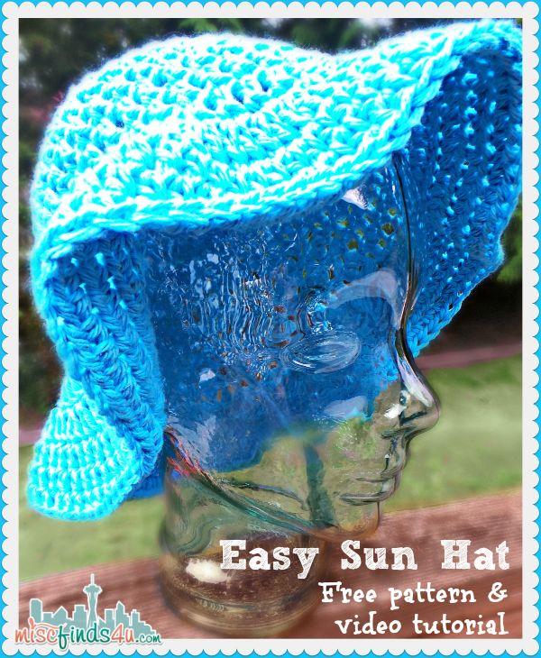 Free Crochet Pattern - Sun Hat