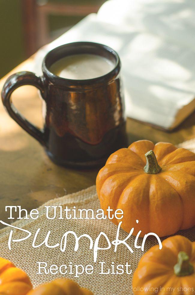 The Ultimate Pumpkin Recipe List: 56 Recipes for Fall!