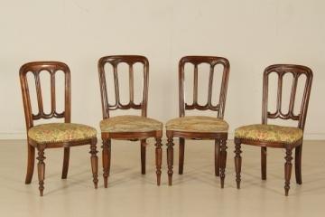 Sedie poltrone divani: Gruppo di quattro Sedie stile Umbertino