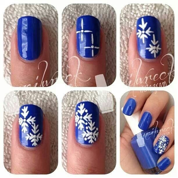 Snowflake Nail Art Tutorial: 1000+ Images About Great Nails On Pinterest