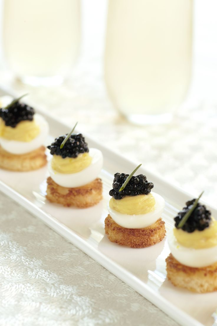 Étoile's Deviled Quail Eggs with Caviar