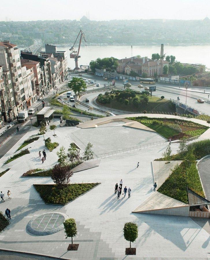 Sishane Park in Istanbul Turkish Urban Landscape Development – design by SANAL arc