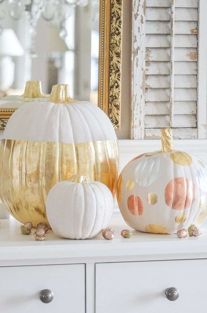 Gilded Pumpkin Diy With Images Fall