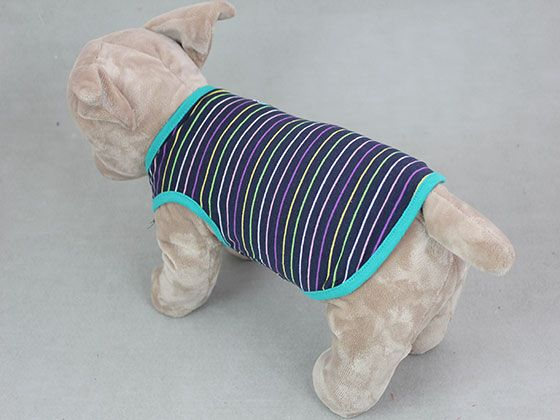 T-Shirts - Shark Series Striped Vest Dark blue(14-CX012) Wholesale Dog Clothing,Dog clothes,Dog clothing,Cheap dog clothes,Dog Collar,Dog Leash,Dog apparel,Dog bed, Dog shoes,vetement chien,manteau pour chien DogDug.com