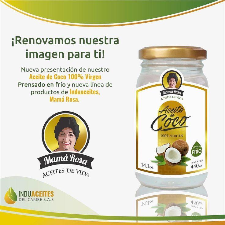 🎊 🎉 🎊 🎉 🎊 🎉 ESTAMOS ESTRENANDO🌴🌴 Conoce la nueva presentación de nuestro Aceite de Coco 100% Virgen, Prensado en Frío, de la nueva línea de productos Mamá Rosa.  Estamos trabajando para ofrecerte una mejor experiencia y seguiremos haciéndolo.  Adquiere YA tu Aceite de Coco 100% Virgen de Mamá Rosa. 🌴🌴🌴 Tu Bienestar es Prioridad. ❤️❤️❤️ #Induaceites #Barranquilla #AceitedeCoco #AceitedeCocoVirgen #CoconutOil #VirginCoconutOil #piel #cabello #organismo #saludybienestar…