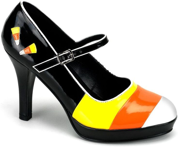 Candy Corn Shoes - for the Diva: Halloween Costumes, Corn Mary, Candy Corn, Halloween Sho, Corn Shoes, Candycorn, High Heels, Mary Jane, Halloween Ideas