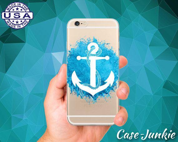 Anchor Blue Watercolor Paint Splatter Navy Tumblr Clear Case iPhone 5, iPhone 5C,  iPhone 6, iPhone 6+, iPhone 6s, iPhone 6s Plus iPhone SE