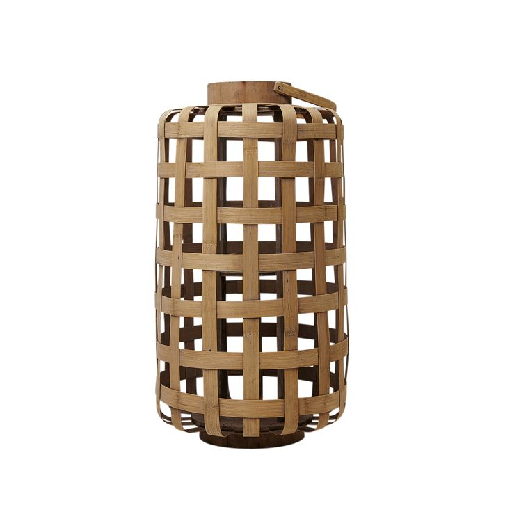 Beautiful and natural. Lantern in bamboo from Molly Marais. Molly Marais.