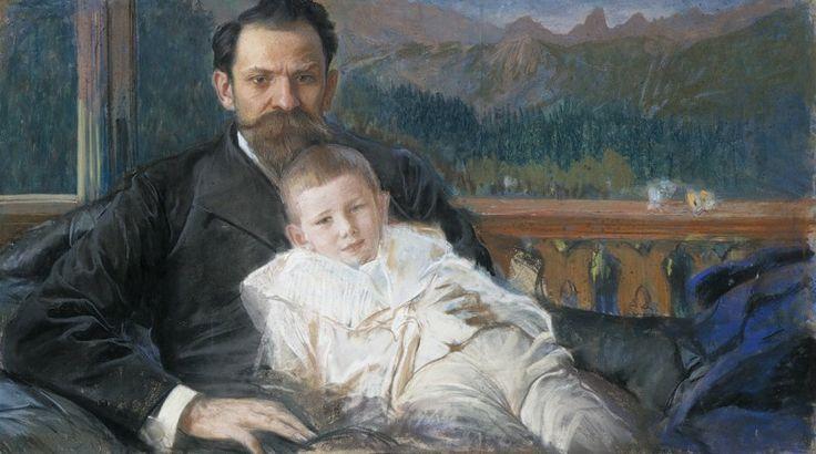 Leon Wyczółkowski – Żeromski z synem. Materiały udostępnione przez Muzeum Narodowe w Poznaniu