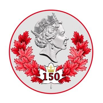 Her Majesty's emblem for Canada's 150th birthday