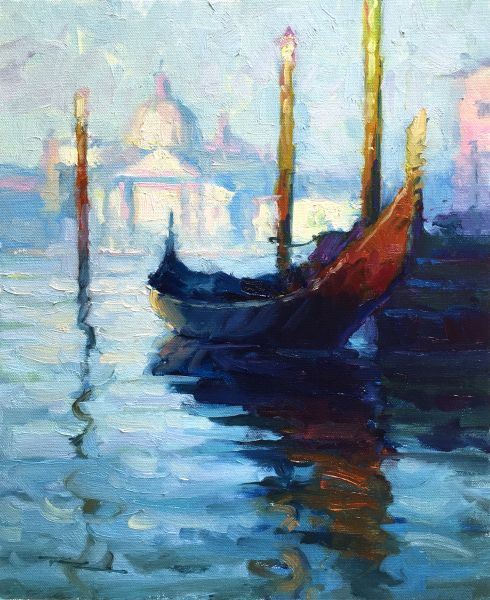 """Gondola in Venice after Monet"" by Richard Robinson"