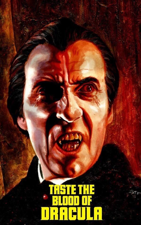A4,A3,A2,A1 Home Wall Art Print Vintage Movie Film Poster BLOOD OF DRACULA
