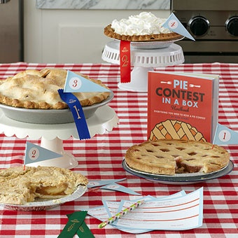 awesome....have each guest bring their own homemade pie along to your barn party and have a pie contest