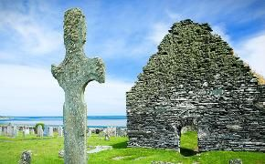 Islay grave yard  / Ferries to Scotland & Scottish Isles, Caledonian MacBrayne, CalMac