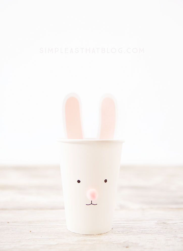 DIY Easy Easter Cups