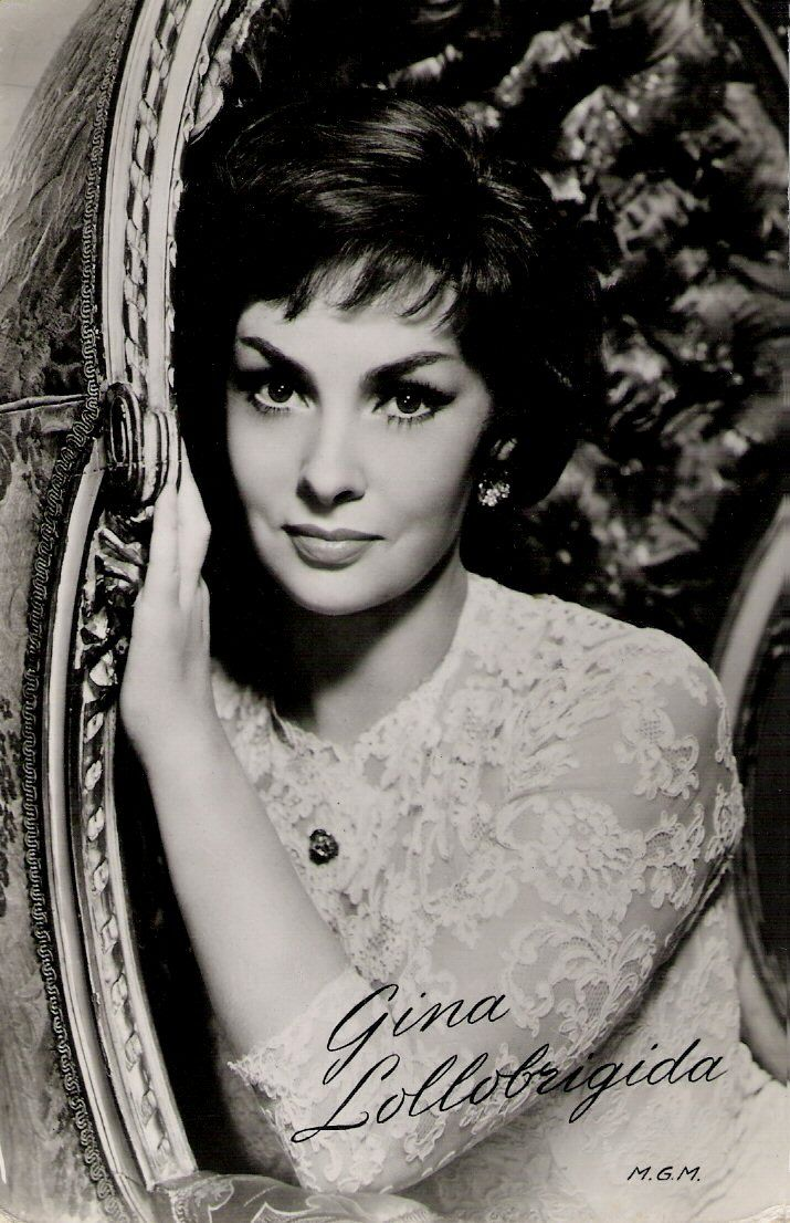 Italian actress and photojournalist Gina Lollobrigida (1927), was one of Europe's most prominent film stars of the 1950's.