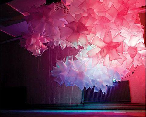 plastic bags, air + light installation • robert janson • via lost at e minor
