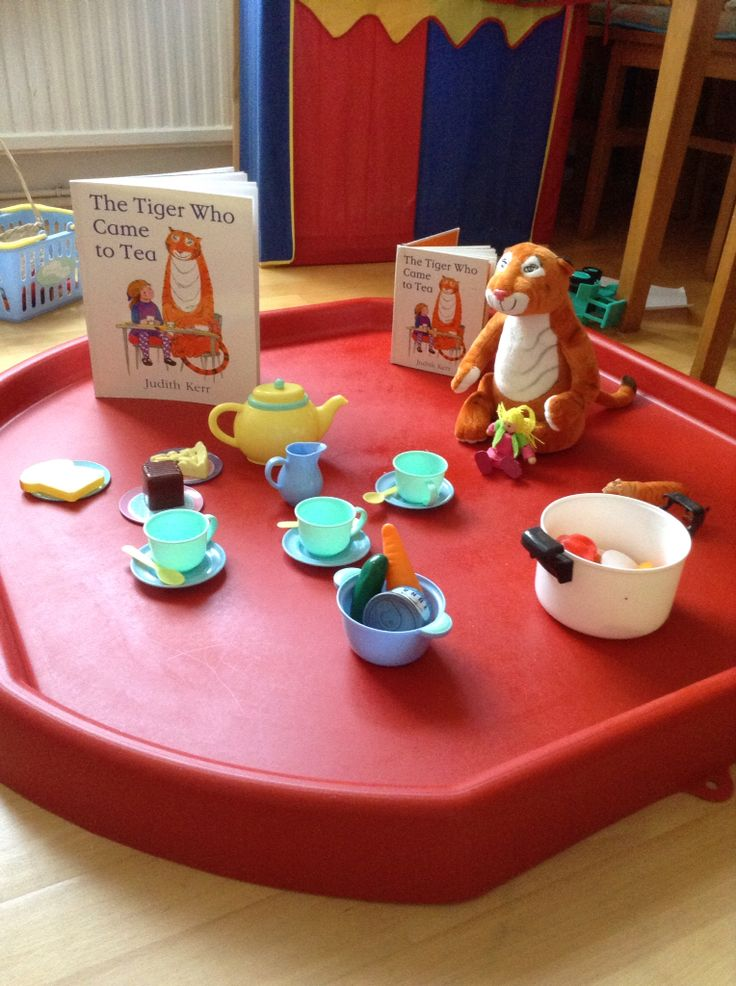 The tiger who came for tea tuff tray