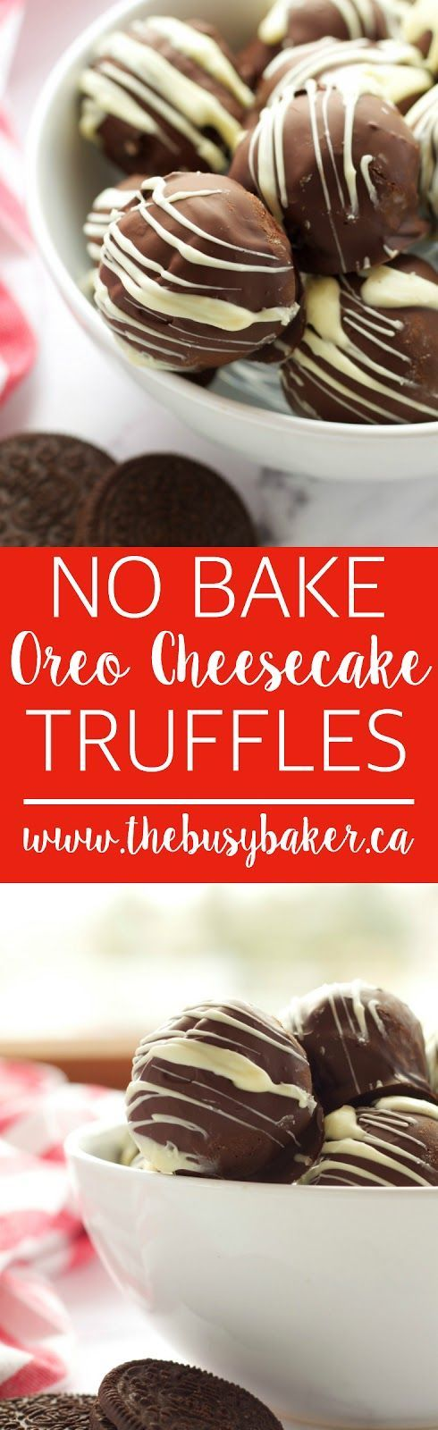 No Bake Oreo Cheesecake Truffles are the perfect holiday recipe! http://www.thebusybaker.ca