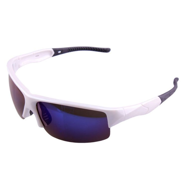 xq290 Sports Riding Fishing Sunglasses Polarized Glasses bright white/blue