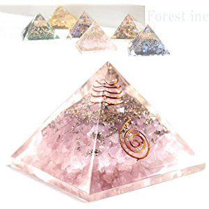 高品質 ピラミッド オルゴナイト レイキ マントラシンボル 置物 【ローズクォーツ】1個