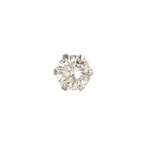 DIAMOND WORLD レディース ジュエリー PT900 ダイヤモンドピアス 0.15ct FGカラー ダイヤ使用 6本爪タイプ 片耳ピアス メンズピアスレディースピアス