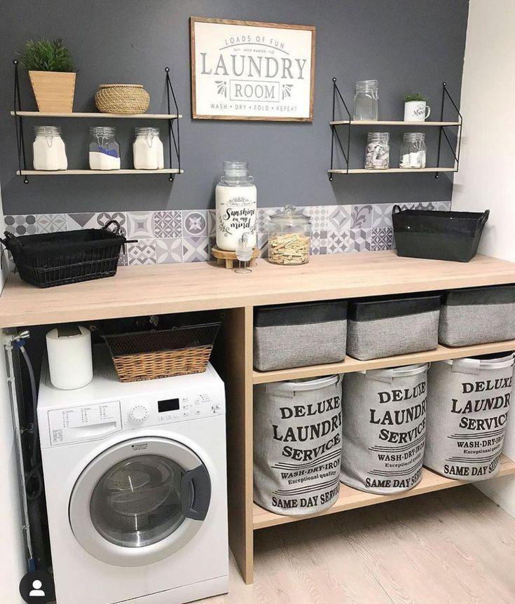 """🏠Home Deco🍃💕 auf Instagram: """"Skandinavische Wäsche 🧺 Inspi @home_sty …, #auf #buander…"""