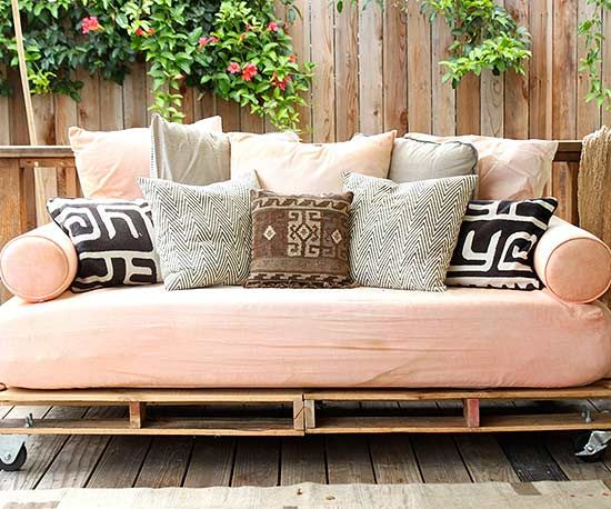 Like the rooms inside our homes, there are limitless ways to decorate a deck or patio, especially when you introduce homemade outdoor furniture. Putting a personal spin on your outside seating area is as easy as modifying a tree stump, upcycling a slab of concrete, or building with unused pallets. We found 13 easy-to-follow DIY patio furniture tutorials to inspire your backyard transformation.