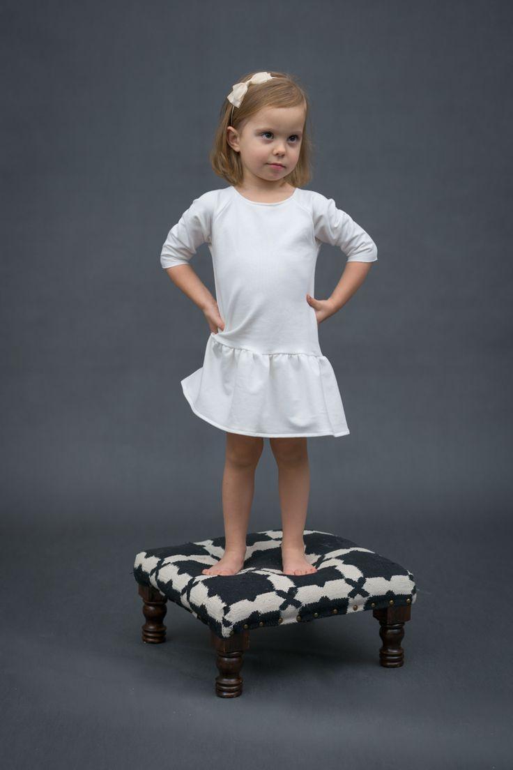 Girl fashion - Ecru Dress with frill by The Same http://www.thesame.eu