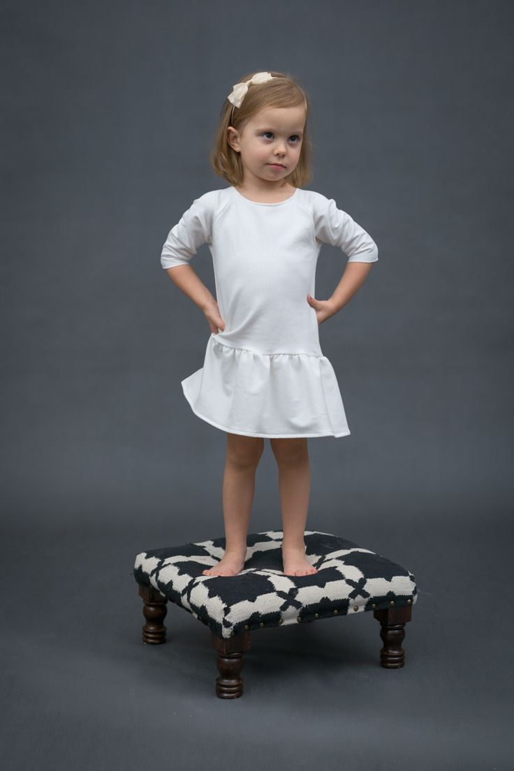 Girl fashion - Ecru Dress with frill by The Same http://www.thesame.eu