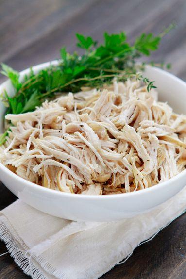 shredded chicken. In this: All-Purpose Shredded Crock-Pot Chicken ...