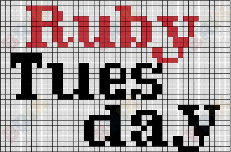 Ruby Tuesday from BrikBook.com #Logo #RubyTuesday #Restaurant #Multinational #pixel #pixelart #8bit Shop more designs at http://www.brikbook.com
