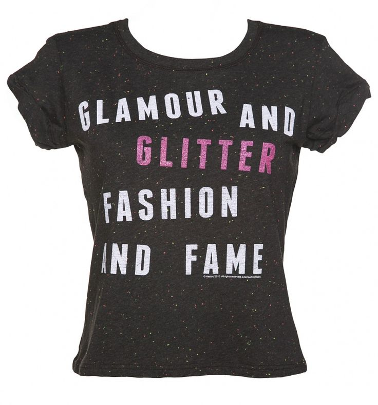 ladies jem and the holograms glamour and glitter speckled rolled sleeve t shirt truffleshuffle