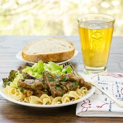 Beef and Onions Braised in Beer | Tasty Meats | Pinterest